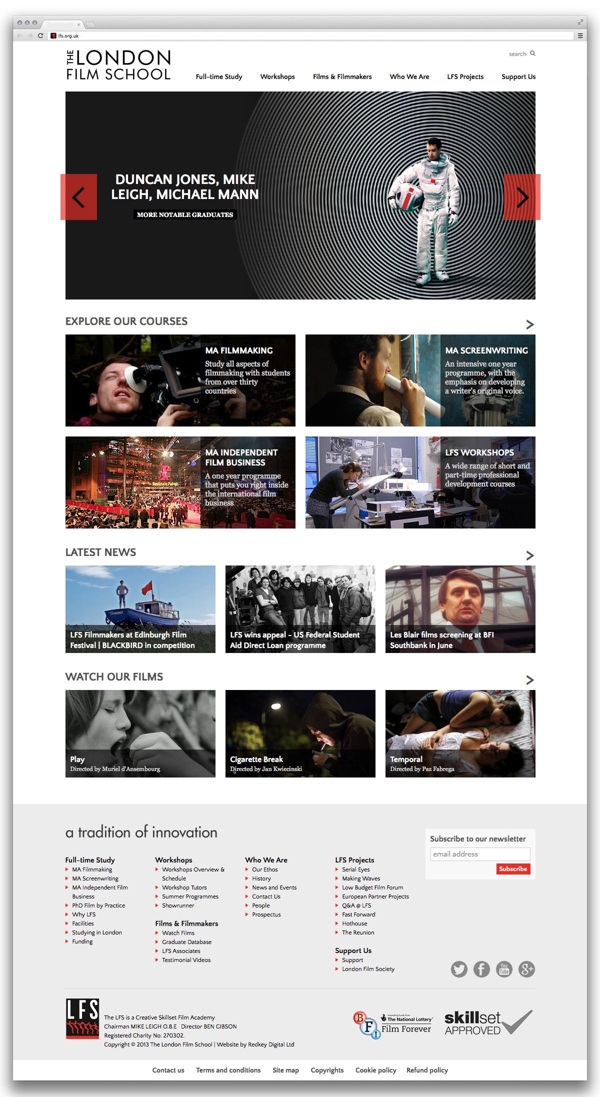 London Film School home page