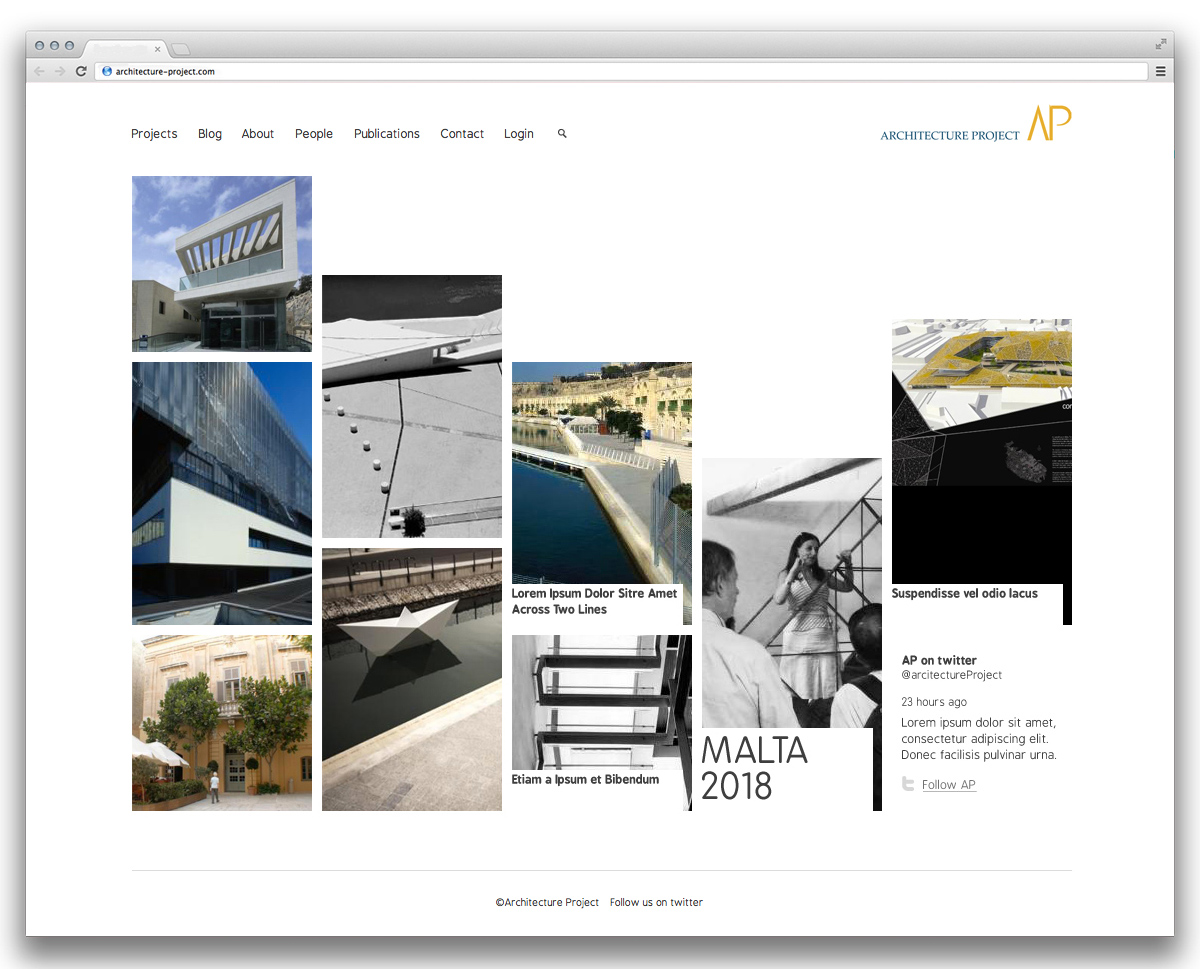 Architecture Project home page