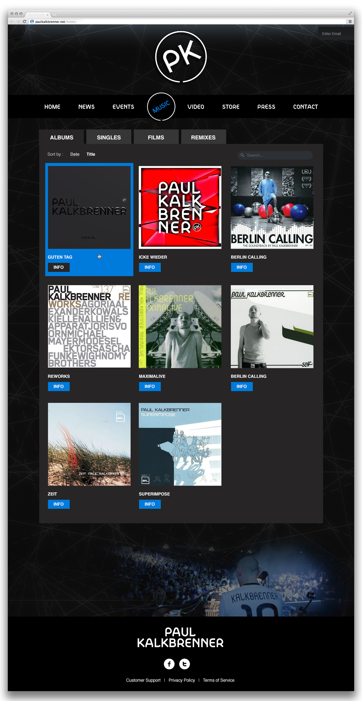 Paul Kalkbrenner home page