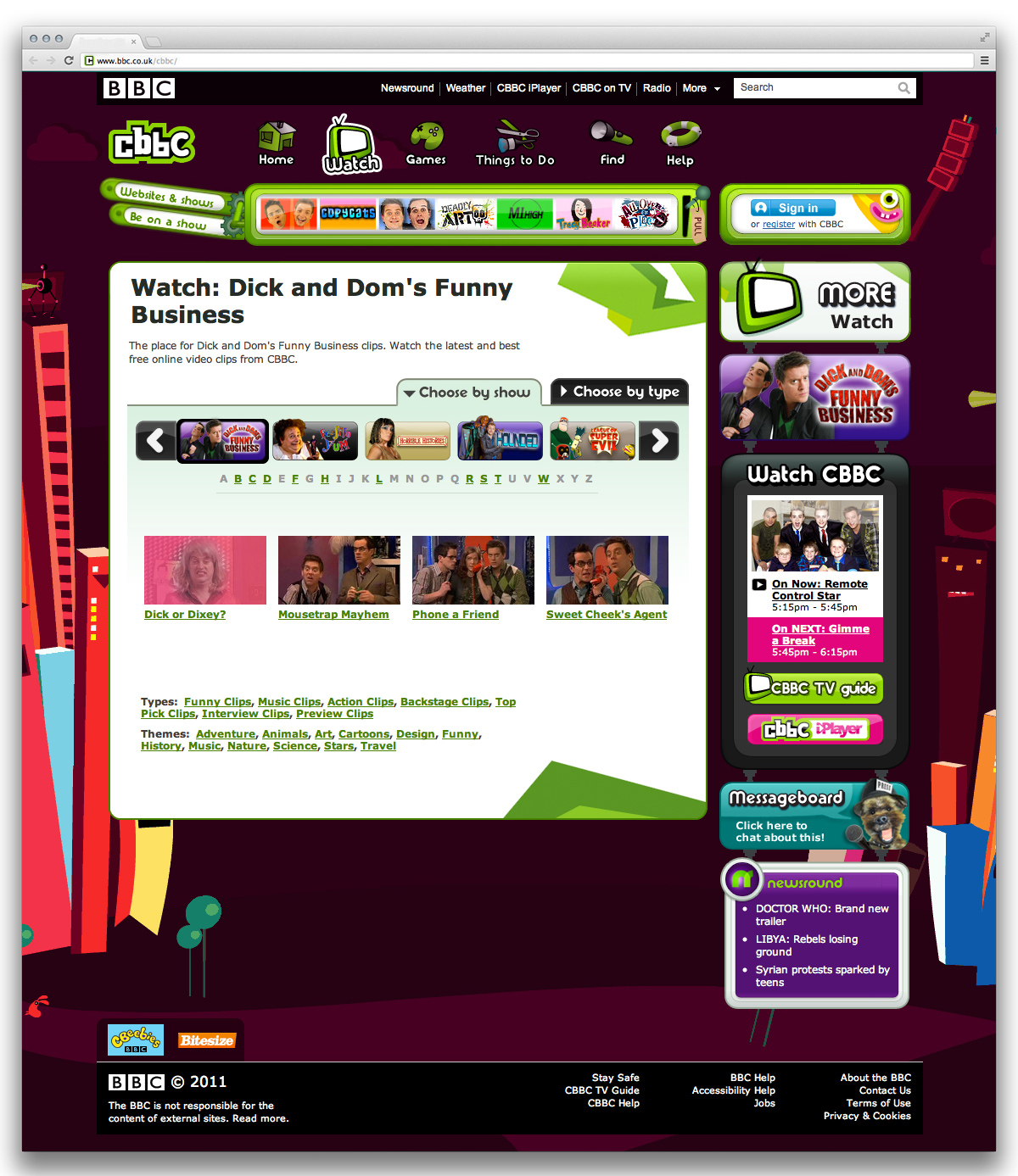 CBBC Watch Page