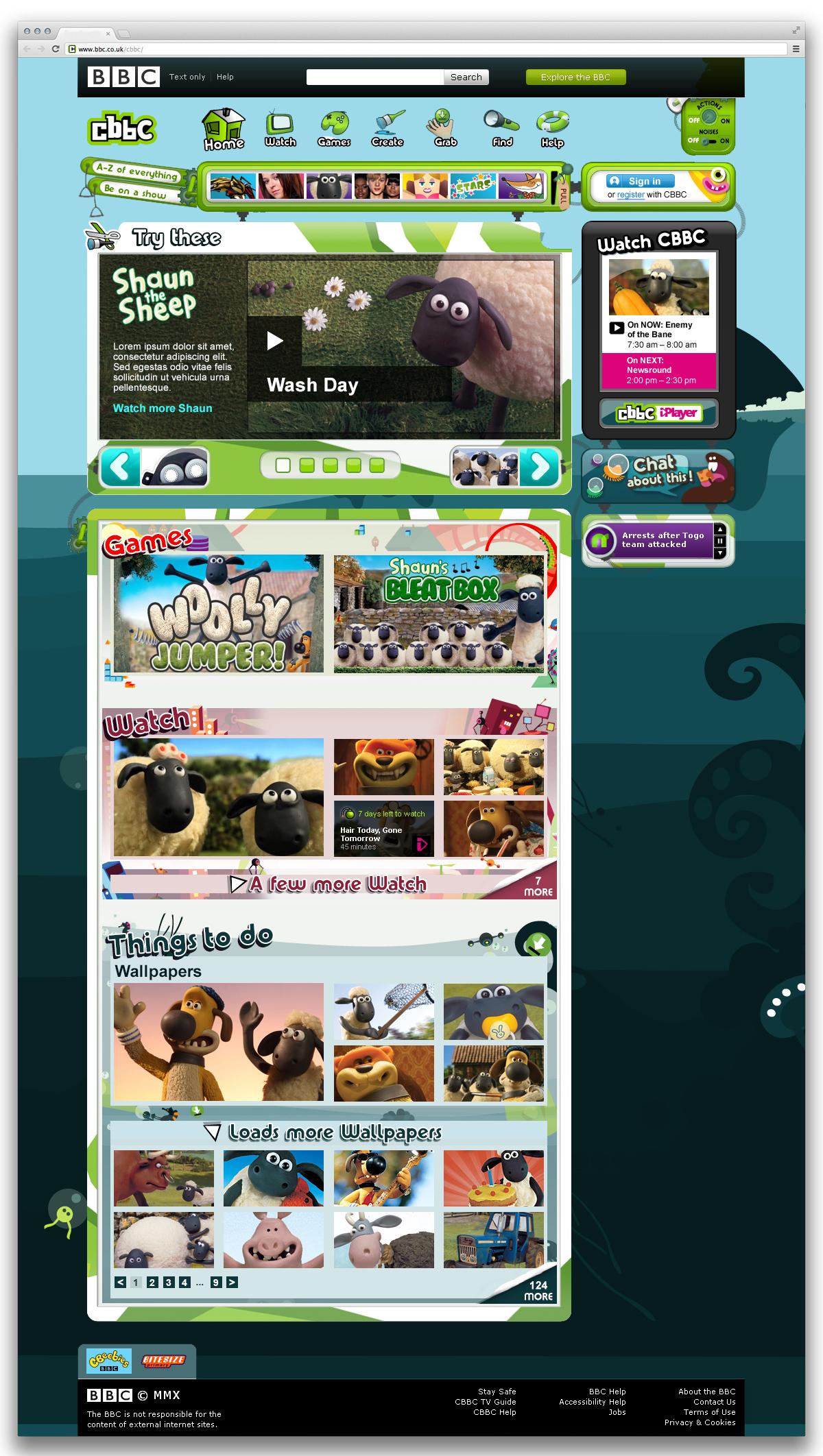 CBBC Brand Page