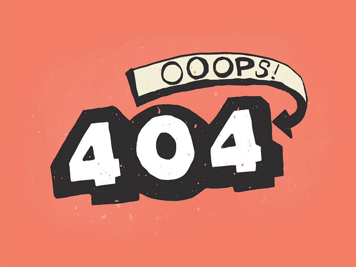 404 Hand Lettering