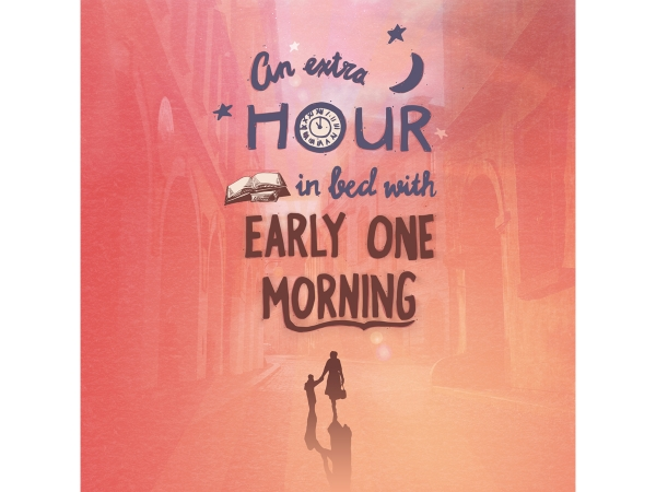 An extra hour hand lettering